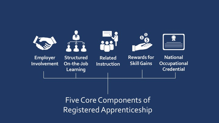 after completing a registered apprenticeship the apprentice receives a nationally recognized occupational credential that communicates the standards and
