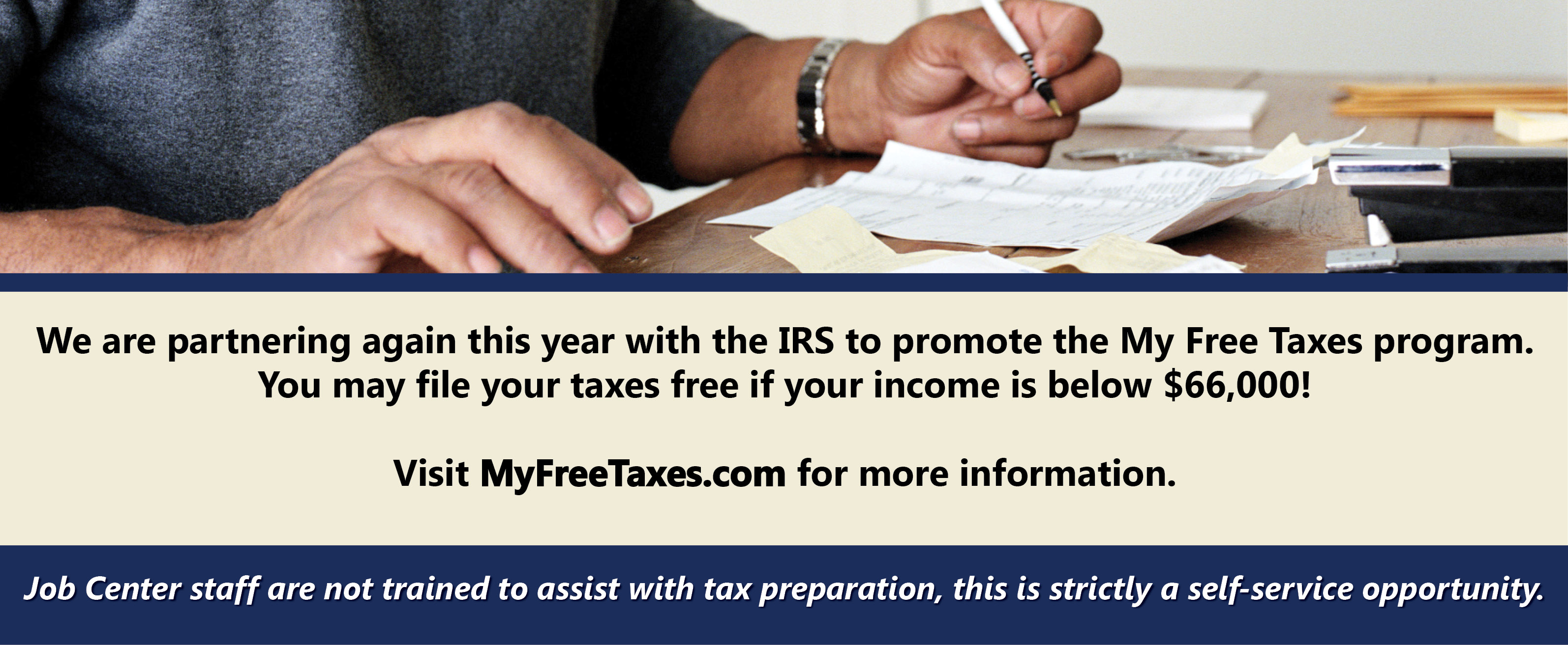Free tax filing at Myfreetaxes.com