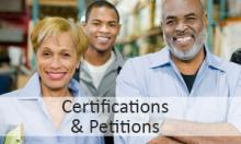 Click to view certifications and petitions