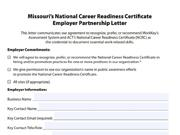 Employer NCRC Partnership Letter