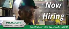 Nucor Now Hiring