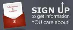 Sign up to get information you care about