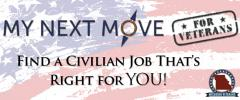 Find a Civilian Job with MyNextMove for Veterans